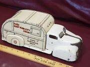 1940s Marx City Sanitation Dept. Help Keep Your City Clean Metal Toy Truck