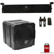 Wet Sounds Package Black Stealth 6 Ultra Hd Sound Bar With Remote And 8 Sub
