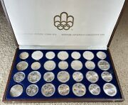 1976 Silver Canadian Montreal Olympic Games 28 Coin Set 5 And 10 Coins