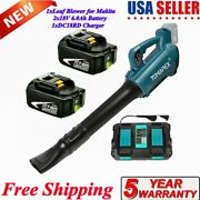 18v Lxt Brushless Leaf Blower For Makita Xbu03z W/6.0ah Battery+dc18rd Charger