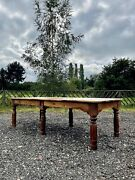 Rare Huge/large Antique French Walnut Farmhouse Refectory Dining Table Kitchen