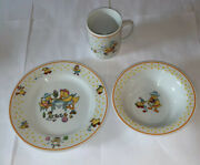 1980 Vintage Mary Engelbreit Horchow Child China Set Duck Plate Bowl Cup
