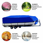 14-24ft Boat Cover Fish Pontoon Speedboat V-hull Protector Waterproof Trailable