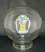 Vintage Glass Antique 1 Cent Ford Gumball Machine Globe Ford Branded Gum Round