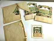 Lot Of 5 Antique Jewish New Year Pop Up Cards C1890 Germany