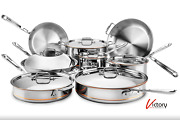 Niob All-clad Copper Core 11-piece Cookware Set   Stainless Steel - 8400002133