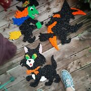 Vintage Lot Halloween Melted Plastic Popcorn Decorations  New Old Stock