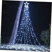 Christmas Decorations Outdoor Lights16.4 Ft 320 Led Star Christmas Tree White
