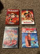Disney Dvd Lot Wreck It Ralph And Ralph Breaks The Internet, The Incredible 1 And 2
