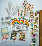 Vtg Rare 70s Cereal Prize Stickers Patches Lot Crunch Snoopy Kelloggs Post