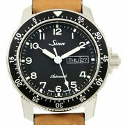 Sinn 104.st.sa Automatic Day Date Leather Steel Black Dial Men's Made In Germany