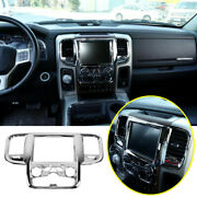 For 2014-2018 Dodge Ram 1500 Abs Chrome Dashboard Console Navigation Cover Trim