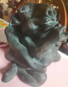Rare Antique Bronze Winged Architectural Gargoyle - Detailed And Unique - Heavy