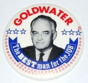 1964 Barry Goldwater 6 Inch Campaign Pin Pinback Button Political Presidential