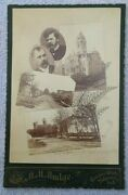 1890's, Valparaiso, Ind. Multi View College,court House, Street . Cabinet Card