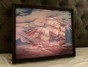 Haunted Mansion Ghost Ship Changing Portrait 18x22 Disneyland 50th Led D23 2019