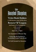 Full Size 18x27 1970s Disney World Haunted Mansion E Ticket Sign Ride Vintage