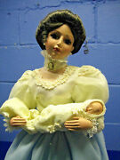 San Francisco Music Box Mother Doll Holding Baby 23 Plays Wind Beneath My Wings