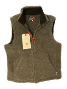 New Rare 168 Best Made Company Gray Wool Fleece Vest. Sz M. Made In Italy. Co