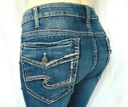 Silver Jeans Co. Womenand039s Plus Size 24 Suki Slim Boot Mid Rise Curvy