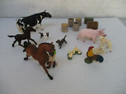 Schleich Farm Lot Cow Horse Rooster Lamb Produce Puppy Crates Accessories Wow