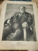 Historic Etching 1912 William Taft Anders Zorn Frances Appleton And A. Rosenthal