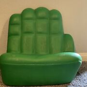 Incredible Hulk Vintage Green Chair Kids / Children Plastic Blow Mold 1960andrsquos