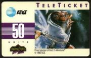50u E.t. Universal Studios Group 1 = 'poet No Barcode French Phone Card