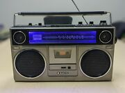 Wicked Clean Sanyo M9930a Vintage 1980s Boombox Bluetooth Blue Led Light Restore