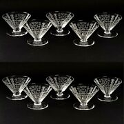 Baccarat Lido 10 Coupes Champagne Cristal Crystal Glasses