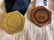 Utah Summer Games Medals Lot Of 2 - One Gold Medal And One Silver Medal For Utah