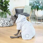 Darren And Phillip Snuggle Buddy Dog Robe Sz L Gray Hooded Petwear Dog Clothes