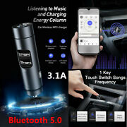 Car Fm Transmitter Mp3 Player Radio Adapter Usb Charger Wireless Bluetooth 5.0