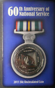 Australia 2011 National Service 50 Cent Coin In Card