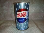 Nice Clean Vintage Pepsi Cola Bottle Cap Steel Soda Can 50and039s-60and039s Pull Tab 12oz
