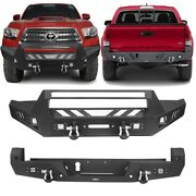 Steel Textured Assemble Front + Rear Bumper Bars Combo For 2016-2021 Tacoma