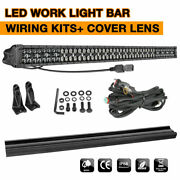 50inch Led Work Light Bar Combo Offroad Driving W/wiring Kit For Dodge Ford Jeep