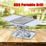 Stainless Steel Camping Grills Outdoor Barbecue Bbq Grill Folding Bbq Tools New