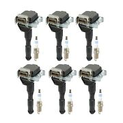 Bosch 6 Ignition Coils And 6 Double Platinum Spark Plugs Kit For Bmw E36 L6
