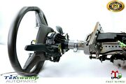 12-18 Audi A7 C7 Left Lh Driver Side Steering Column W Wheel Levers Assembly Oem