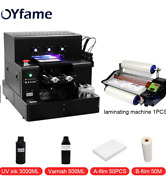 A4 Uv Dtf Printer Machine For Cups Phone Case Acrylic Golf W/ Varnish Effect New