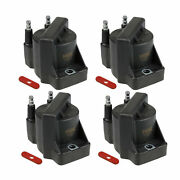 Ngk Set 4 Distributorless Ignition Coils For Cadillac Chevy Oldsmobile Shelby V8