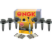 Ngk 6 Ignition Coils 6 G-power Platinum Spark Plugs Kit For Ford Lincoln Mercury