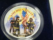 2001 American Silver Eagle Colorized Coin Remembering Our Heroes 9-11 B