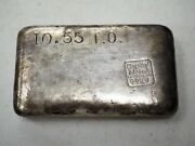 Nice Vintage Loaf Style Poured Silver Bar 999+ Capital Metals 10.55 Troy Oz