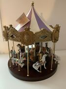 Franklin Mint Treasury Of Carousel 1988 Set Of 12 Horses And Animals W Carousel