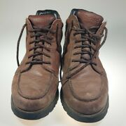 Rockport Leather Combat Boots M3389 Hydro-shield Waterproof Menand039s Sz 10.5m Brown