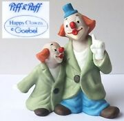 Claw Porcelain Figurine Piff And Paff Happy Clowns Goebel N279