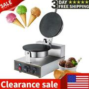 Commercial 1000w Electric Non-stick Ice Cream Waffle Cone Baker Maker Machine Us