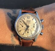 Vintage Tissot Antichoc Stainless Steel Chronograph Watch Serviced 804a 33mm